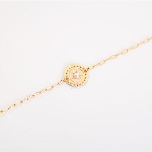 Bracelet médaille perle d'eau douce