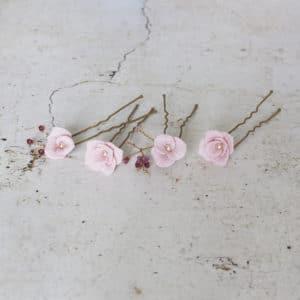 Epingles à chignon  fleurs demoiselles d'honneur
