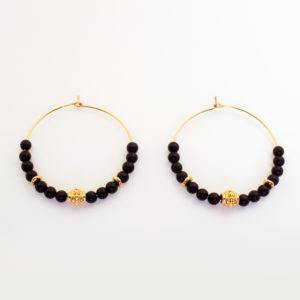 Créoles perles d'onyx