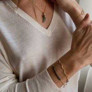 Bracelet chaine vagues