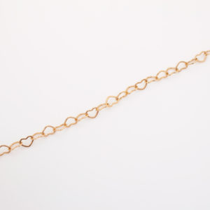 Bracelet chaine coeurs
