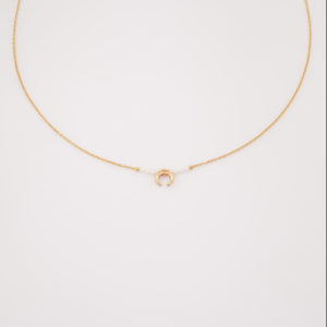 Collier petite lune et perles