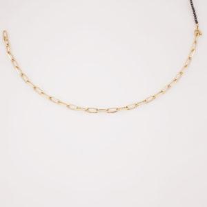 Bracelet morpho double chaine noire