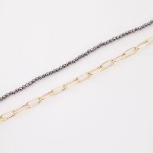 Bracelet morpho double hématite