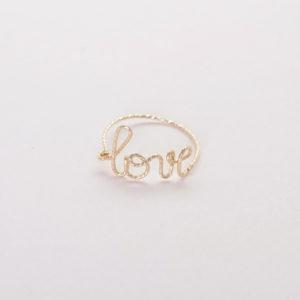 Bague Love diamantée
