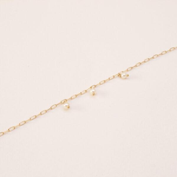 brcaelet chaine et perle de culture